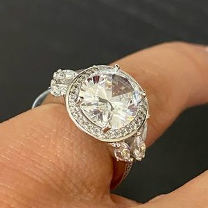 4ct Oval Solitaire CZ Engagement Ring sz 5